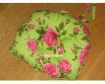 Seat Chair Pad Cushion Pink Floral Green Hampton