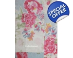 Duvet Set Single Floral Blue Pink Patchwork Vint..