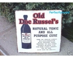 Metal Sign Old Doc Russel..