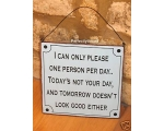 Metal Sign One Person p..