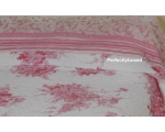 Quilt Throw Topper Monique Pink Velvet Floral To..