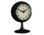 Newgate Black Dome Mantel Alarm Clock Footed
