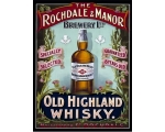 Highland Whisky Metal Wall Sign Retro Vintage