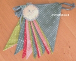 Polka Dot Bunting Vintage Retro Fabric 8m Party..