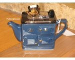 Rayburn Aga Style Teapot One Cup Blue ceramic c..