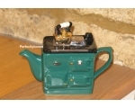 Rayburn Aga Style Teapot One Cup Green ceramic c..