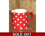 Retro Red Polka Dot Jug s..