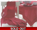 Red Polka Dot Tablecloth ..