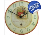 Teddy Drum Enamel Wall Clock Vintage Nursery Pla..