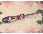 Floral Screwdriver Black Red Yellow Tool