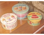 Wiscombe Set 3 Cake Tins retro Cupcakes Eggs Jelly