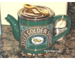 Golden Syrup Teapot Tate and Lyles Green cerami..