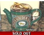 Golden Syrup Teapot Tate and Lyles Green ceramic..