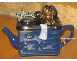 Aga Style Teapot One Cup Cat Blue ceramic colle..
