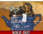Aga Style Teapot One Cup Cat Blue ceramic collec..