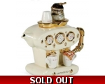 Double Espresso Teapot Cream ceramic