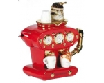 Double Espresso Teapot Red ceramic