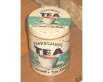 Wiscombe Refreshing Tea Storage Tin Retro cannis..
