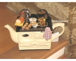Aga Style Sunday Lunch Roast Teapot Cream ceramic