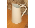 Enamel Jug Cream Retro Pi..