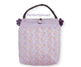 Greengate Bag Abigail Lavender Purple Floral Shopping