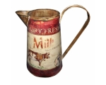 Dairy Fresh Milk Cow Rustic Jug 22cm Red Vintag..