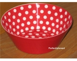 Melamine bowl Red polka d..
