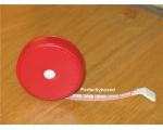 Handbag Tape Measure Red Faux Leather