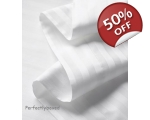 White Satin Stripe Double Duvet Sashi Percale 2..