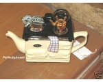 Aga Style Teapot One Cup Cat Cream ceramic coll..