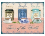 Teas of the World Metal Wall Sign Retro