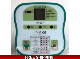 Electrical Socket Tester Plug 4 Versions CN, EU, UK, US.  DY207