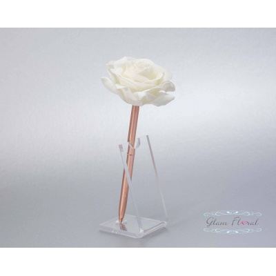 Cream Rose- Rose Gold G..