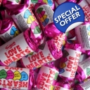 Swizzels Mini Love Hearts Rolls Sweets x 3kg Wholesale Bag