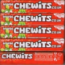 Chewits Strawberry Flavour Chews Stick Packs