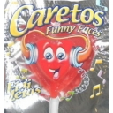 Funny Faces Lollies Heart Shaped Red Mouth Painter Lolly Pops