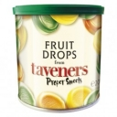 Taveners Tropical Fruit Drops 200g Retro Gift Travel Tins Sweets