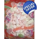 Vandamme Heart Marshmallows Pink & White Mallow Sweets Packets