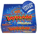 50 Wham New Bigger Chew Bars Raspberry full wholesale box