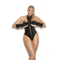 Vinyl cupless teddy with lace up ..