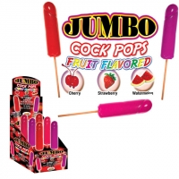 Jumbo Cock Pops Display