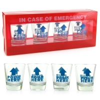 In Case Of Emergency Shot Glasses..