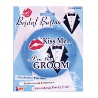 'Kiss Me...I'm The Groom' Button