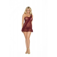 Lace babydoll with one shoulder