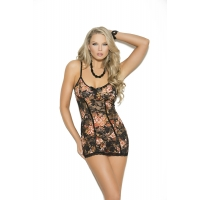 Lace babydoll with adjustable str..