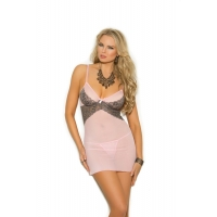 MESH BABYDOLL WITH UNDERWIRE CUPS