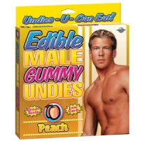 Edible Male Gummy Undies Peach
