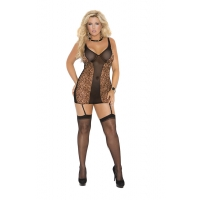 Mesh Chemise with adjustable straps