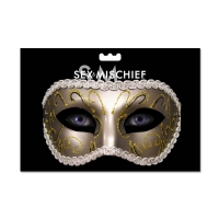 Masquerade style mask with satin ..