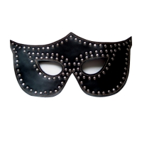 Rapture Black Leather Mask w/Silv..